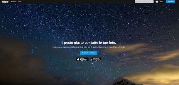 Screenshot di Flickr