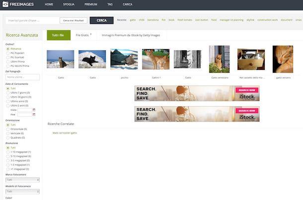 Screenshot di Freeimages