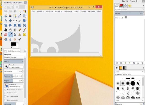 Screenshot di GIMP