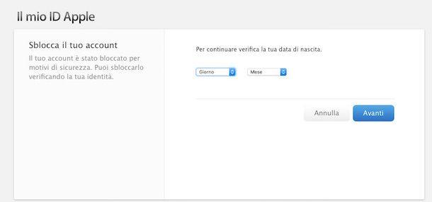 Screenshot di iCloud