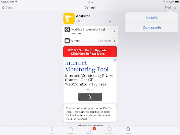 Come installare WhatsApp su iPad