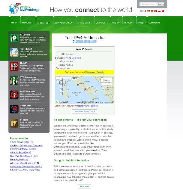 Screenshot di What Is My IP Address