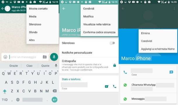 Come cancellare un contatto da WhatsApp