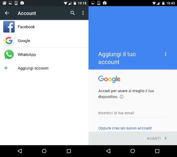 Come cambiare account Google