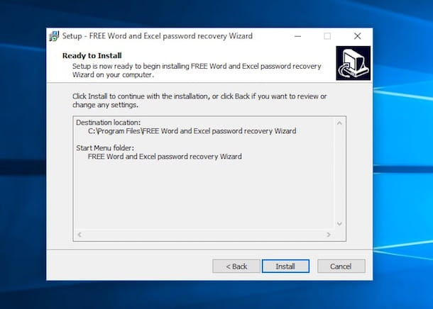 Screenshot di FREE Word and Excel password recovery Wizard