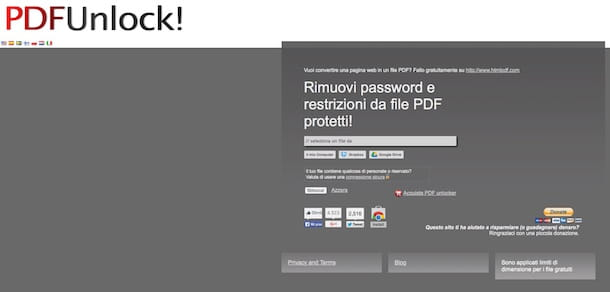 Screenshot di PDFUnlock!