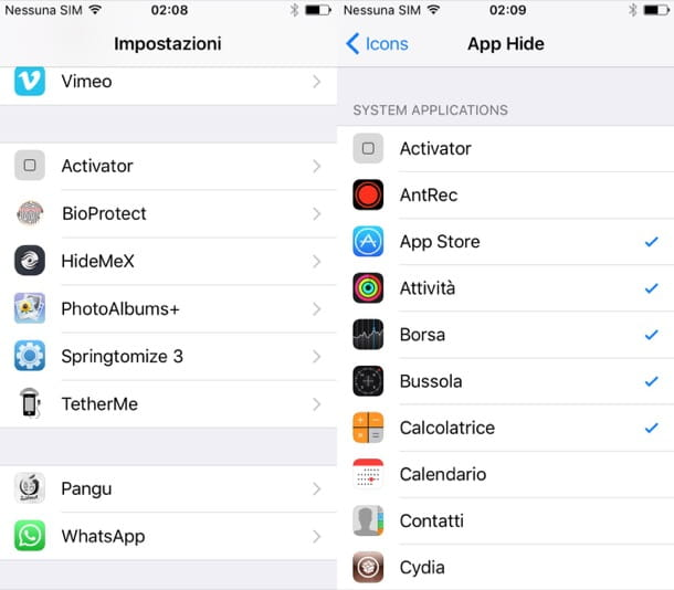 Come nascondere app iPhone