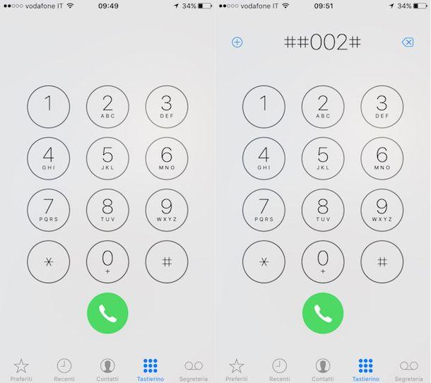 Come disattivare segreteria iPhone