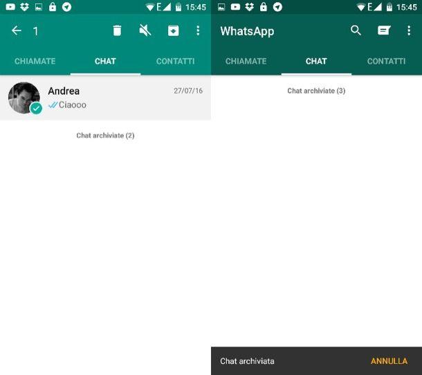 Come nascondere conversazioni WhatsApp