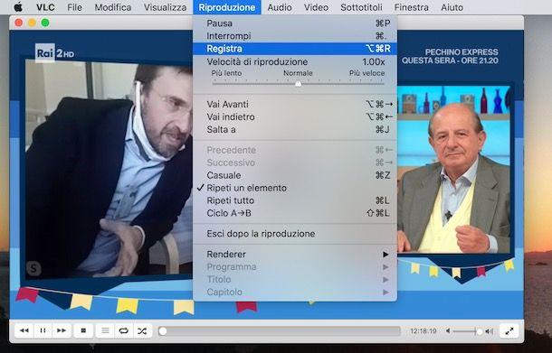 Registare con VLC su Mac