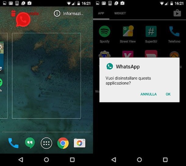 Come non pagare WhatsApp Android