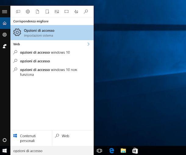 Come togliere password Windows 10