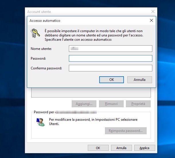 Screenshot di Windows 10
