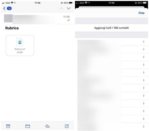 Come trasferire contatti da Galaxy a iPhone manualmente