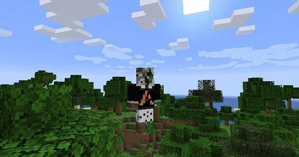 Skin personalizzata in partita Minecraft