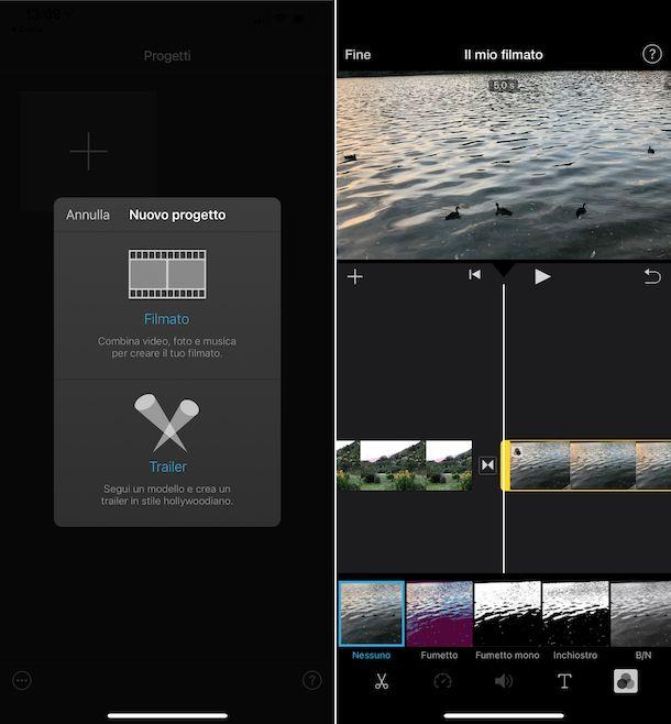 Come unire foto e video