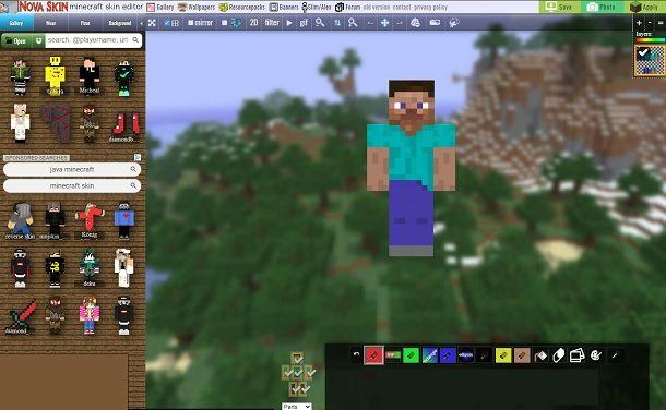 Nova Skin Editor Minecraft