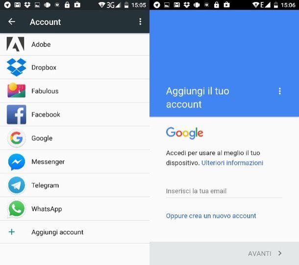 Come recuperare contatti Android