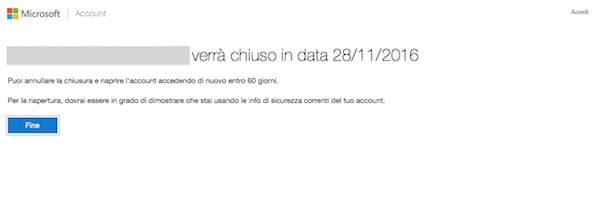 Come eliminare account Outlook
