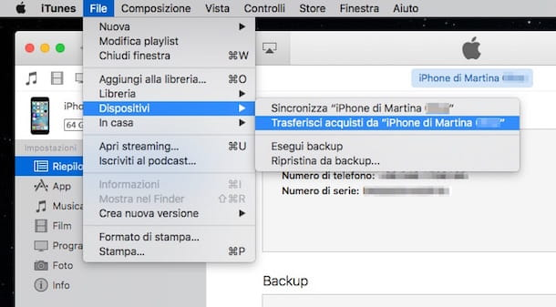 come fare backup iphone