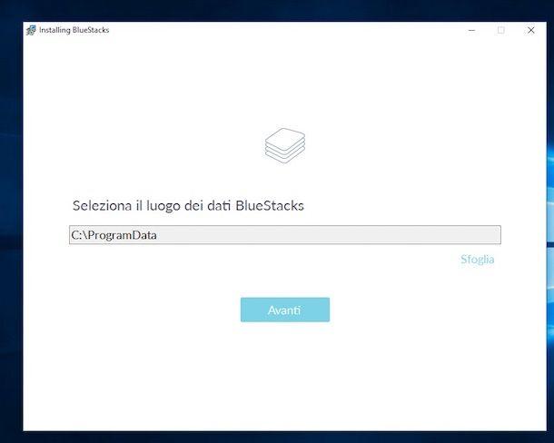 Screenshot di BlueStacks