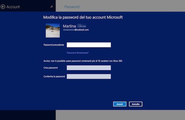 Screenshot di Windows 8