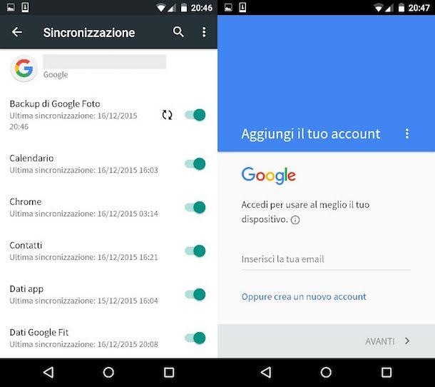 Esportare rubrica Android in file CSV