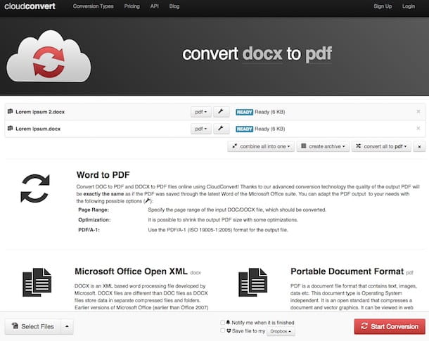 Come convertire file in PDF gratis