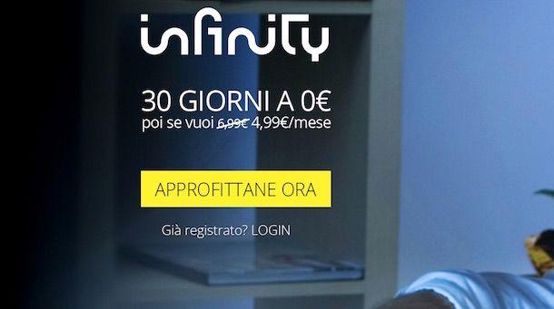 Screenshot di Infinity