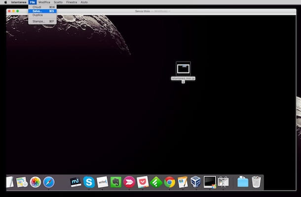 Screenshot di Istantanea su mac