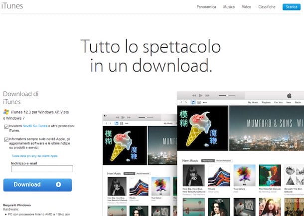 itunes da scaricare per windows 7