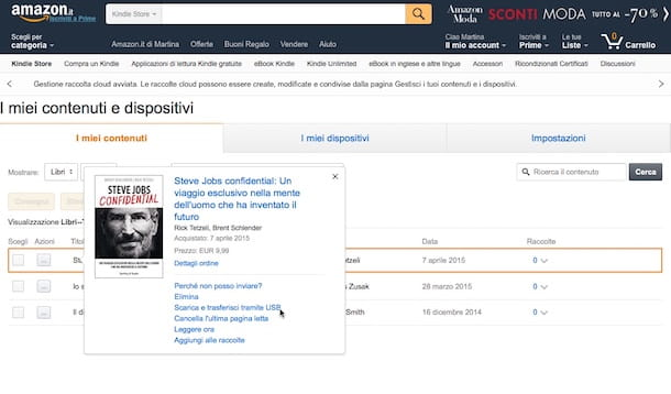 Come cancellare account Amazon
