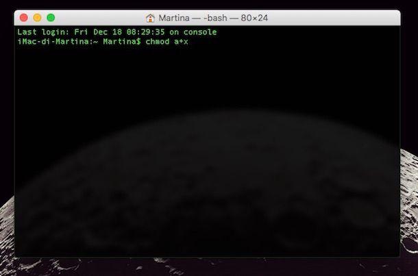 Screenshot di Minecraft su Mac