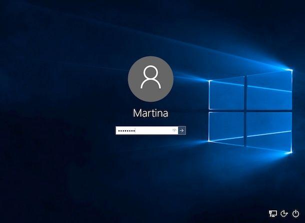 Come eliminare password Windows 10