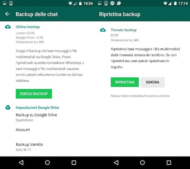 Come ripristinare messaggi WhatsApp