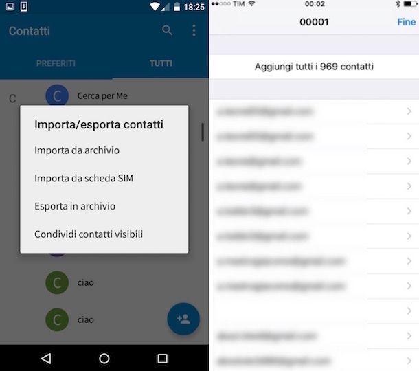 Come trasferire contatti da Samsung a iPhone