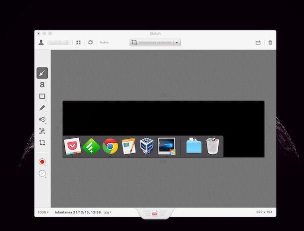 Screenshot di Skitch per Mac