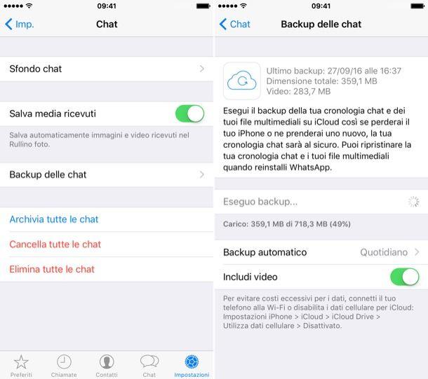 Come salvare messaggi WhatsApp