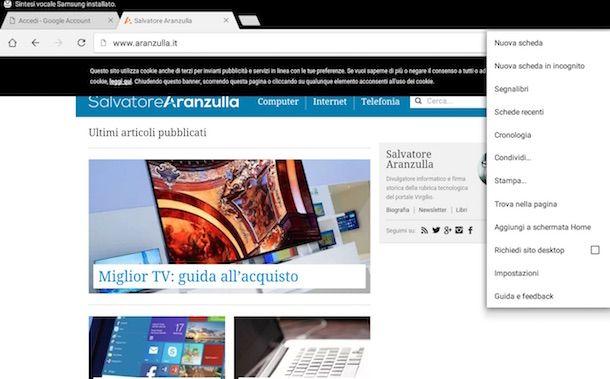 Screenshot Samsung Galaxy Tab