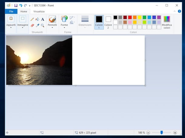 Screenshot di Paint