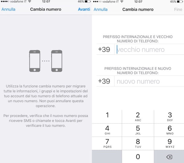 Screenshot di WhatsApp si iPhone