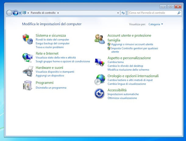 Screenshot di Windows
