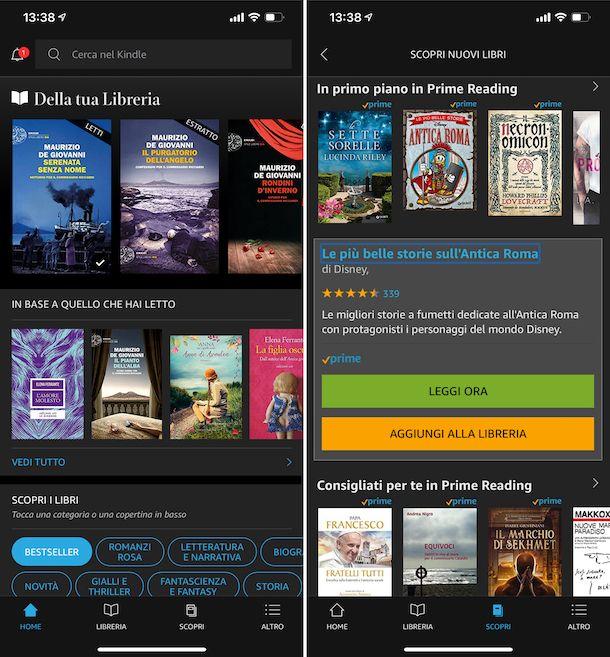 App Kindle iOS