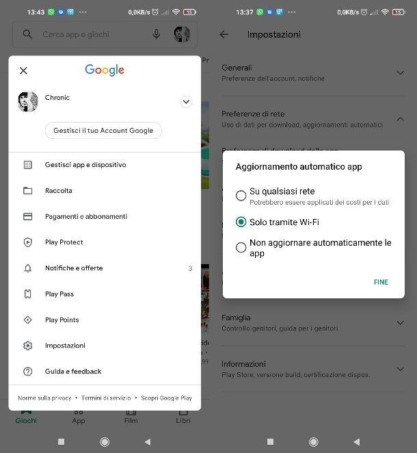 Aggiornamento automatico app Android