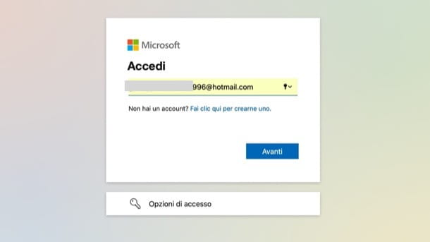 Recuperare password Outlook