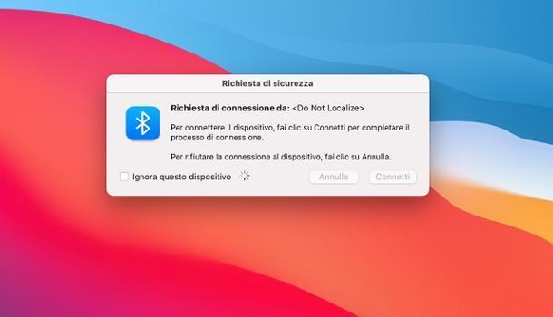 Come trasferire file da Android a Mac: Bluetooth