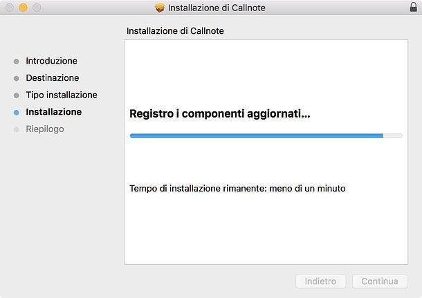 Installazione Callnote Mac