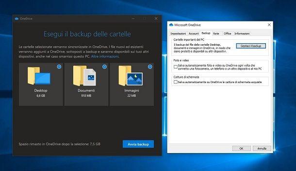 Backup di OneDrive