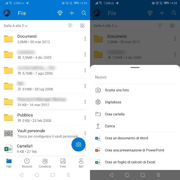 OneDrive su Android