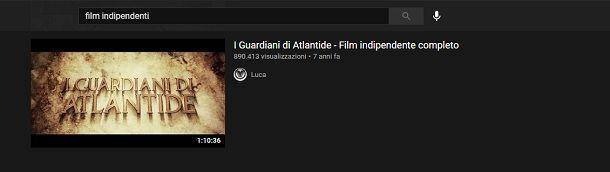 Film indipendenti YouTube